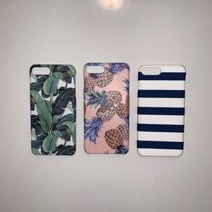 🍍3pc Cute Hard Shell Iphone 7/8 Plus Case🌴